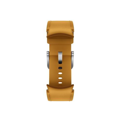 Samsung - Galaxy Watch4, Galaxy Watch4 Classic Hybrid Leather Band, M/L, Mustard