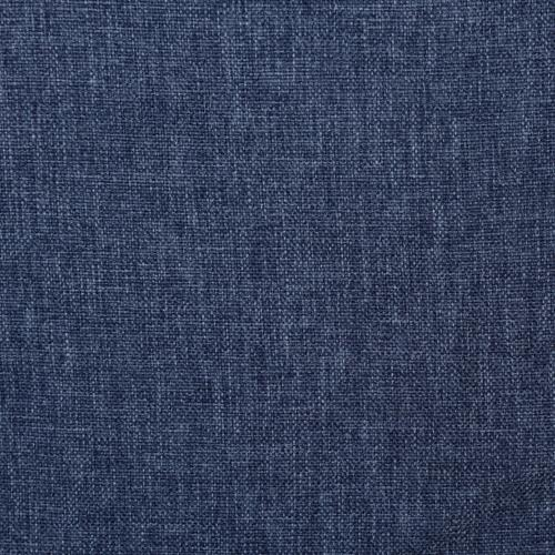 Accentrics Home - Denim Blue Upholstered Twin Bed with Double Nail Head Trim
