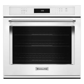"27"" Single Wall Oven with Even-Heat™ True Convection - White"