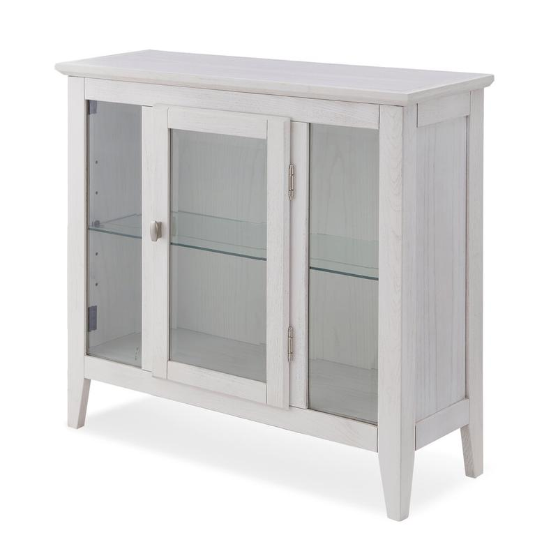 White Entryway Curio Cabinet with Interior Light #10000-WT