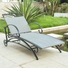 Valencia Resin Wicker/ Steel Multi-position Chaise Lounge - Grey