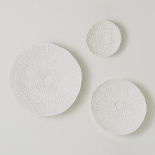 Ceramic Urchin Platter-Matte White-Lg