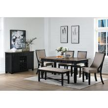 Prairie Point 6 Pc Two Tone Black Dinette Set by New Classic, Model D058