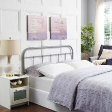Serena Queen Steel Headboard in Gray