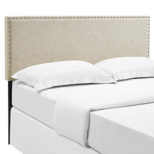 Modway - Phoebe King Upholstered Fabric Headboard in Beige