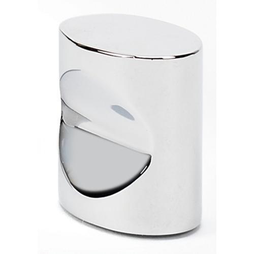 Contemporary III Oval Knob A250-34 - Polished Chrome