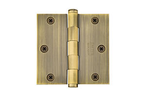 """3-1/2""""x 3-1/2"""" Square Corners Residential Plain Bearing, Solid Brass Product Image"""