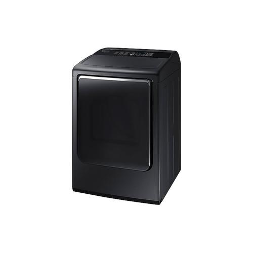 Samsung - 7.4 cu. ft. Gas Dryer with Integrated Controls in Black Stainless Steel