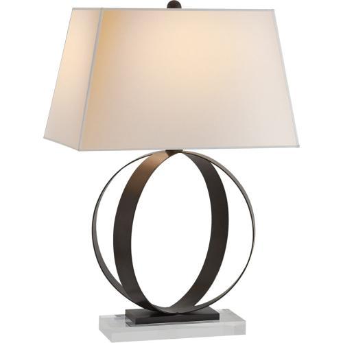 Visual Comfort CHA8531AI-NP E. F. Chapman Rings 28 inch 150 watt Aged Iron Decorative Table Lamp Portable Light