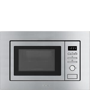 "Smeg24"" Built-in Microwave Oven Fingerprint-Proof Stainless Steel"