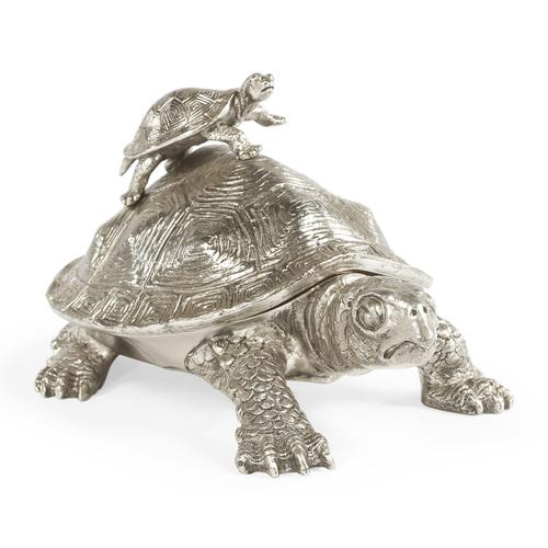 White Stainless Steel Turtle Container