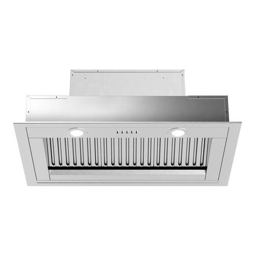 Product Image - Liberta Insert Hood with 560 CFM Baffle Filters LED Lighting in Stainless Steel