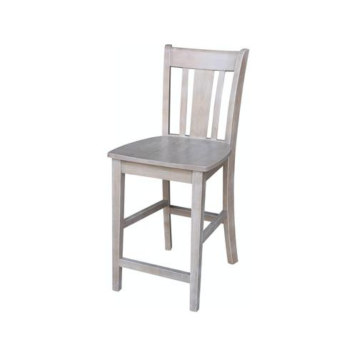 San Remo Stool in Taupe Gray