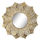 Goldwash Embossed Leaf Wall Mirror Product Image