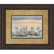 """Camarguq Horses - France"" By Xavier Ortega Framed Print Wall Art"