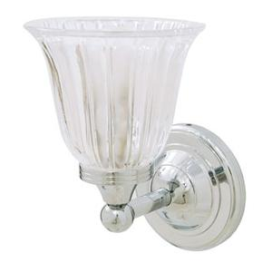Ritz Wall Light With Clear Tulip Glass Shade