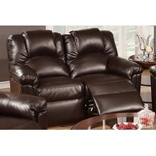 Izem Reclining/Motion Loveseat Sofa or Recliner, Espresso-bonded-leather, Motion-loveseat