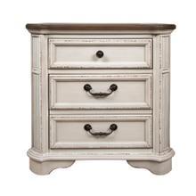 2 Drawer Night Stand, Available in Antique White Finish Only.