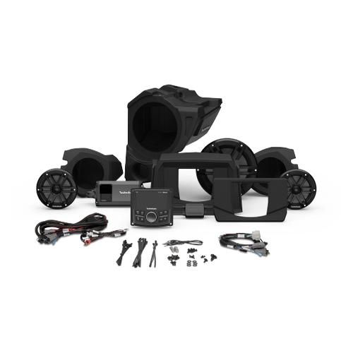 Rockford Fosgate - PMX-2, 800 Watt, Front Color Optix™ Speaker & Subwoofer Kit for Select Polaris® RZR® Models (Gen-3)