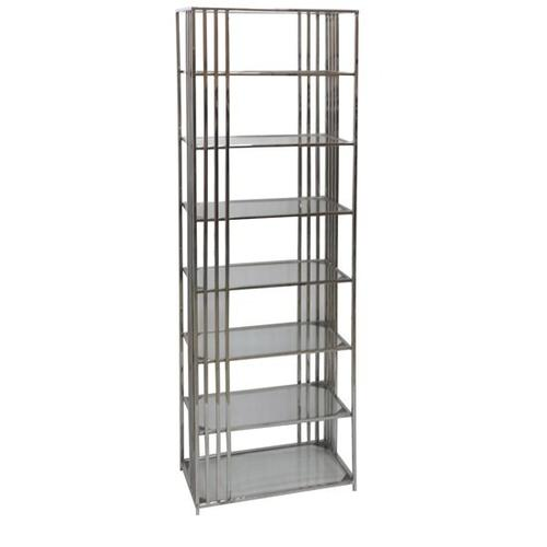 See Details - Drexel Metal and Glass Etagere
