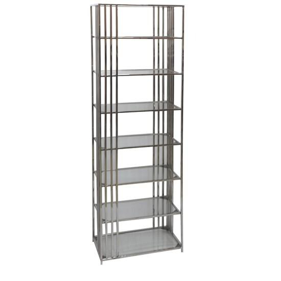 Drexel Metal and Glass Etagere