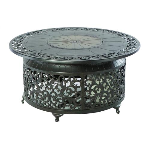 """Bellagio 48"""" Round Gas Fire Pit Chat Table"""