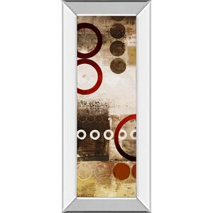 """""""Red Liberated Panel I"""" By Micheal Marcon Mirror Framed Print Wall Art"""