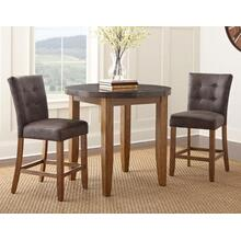 Debby 3 Piece Bluestone Counter Set(Counter Table & 2 Counter Chairs)