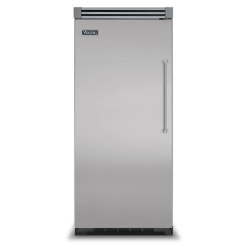 "Viking - Metallic Silver 36"" Quiet Cool™ All Refrigerator - VIRB Tru-Flush™ (Left Hinge Door)"