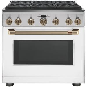 "Cafe36"" Dual-Fuel Commercial-Style Range with 6 Burners (Natural Gas)"