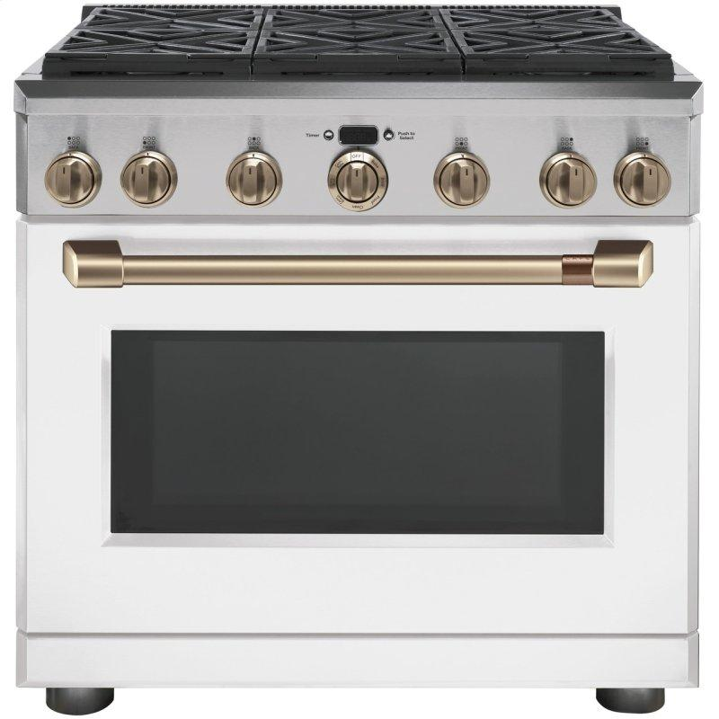 """36"""" Dual-Fuel Commercial-Style Range with 6 Burners (Natural Gas)"""