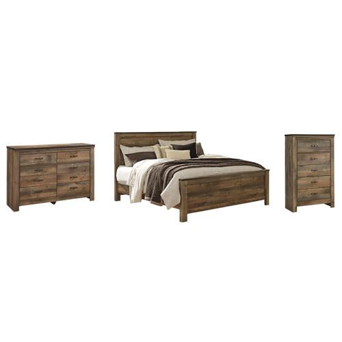 Ashley - King Panel Bed With Dresser and Chest