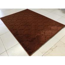 Soft Hand Carved Geometric Design Valentine Lantern Area Rug by Rug Factory Plus - 5' x 7' / Dark Brown