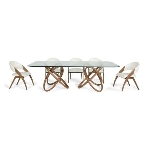 Modrest Mason & Lucas Modern Walnut Dining Set