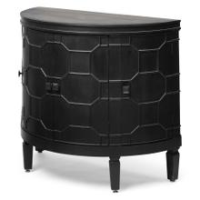 Romers II 18L x 38W Black Wood 4 Door Patterned Accent Cabinet