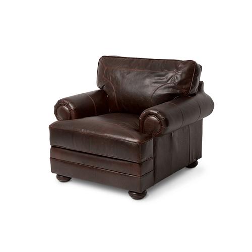 Newbury Leather Chair in Chocolate Espresso