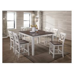 5057 A La Carte White 7-Piece Counter Height Dining Set