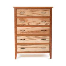 Denver 5 Drawer Chest - Maple & Cherry Mix