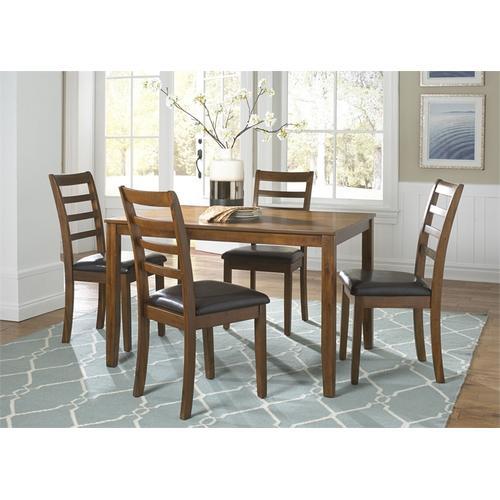 Liberty Furniture Industries - 5 Piece Rectangular Leg Table Set