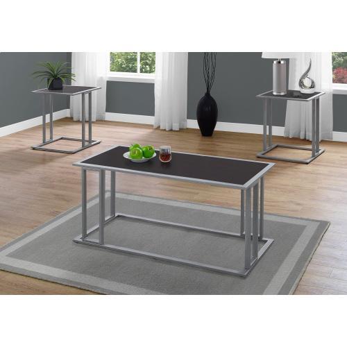Gallery - TABLE SET - 3PCS SET / ESPRESSO / SILVER METAL
