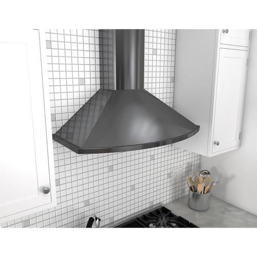Product Image - Essentials Europa Series 30-In. Savona Wall Range Hood - Black Stainless Steel