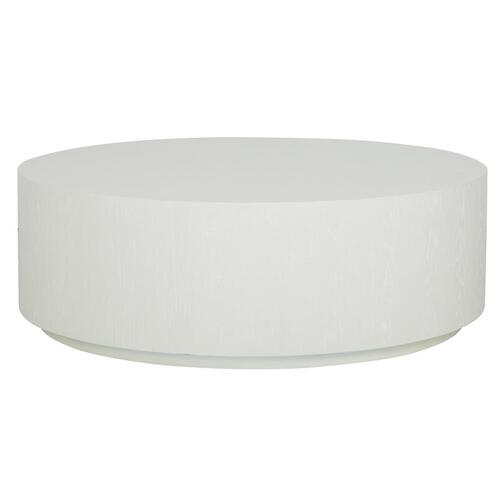 Round Accent Cocktail Table - White