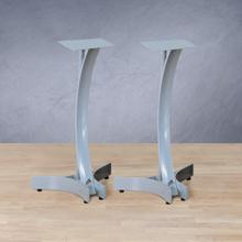 "24"" Titanium Silver Finish Speaker Stands"