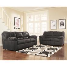 Signature Design by Ashley Dominator Living Room Set in Black Fabric