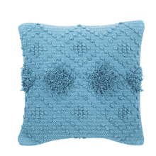 See Details - Blue Diamond Bobble Pillow
