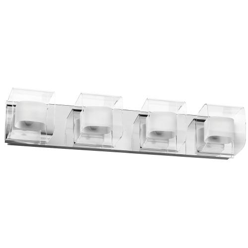 4lt Vanity Fixture Clear/frosted Glass