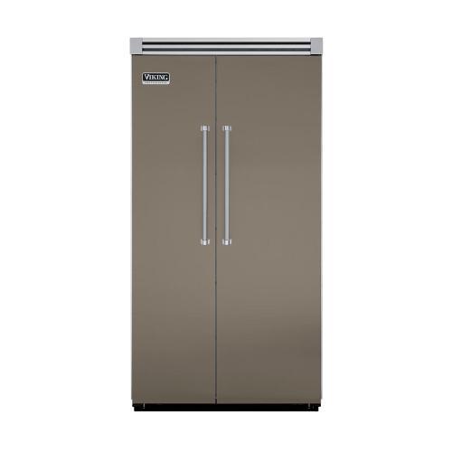 "Viking - Stone Gray 42"" Quiet Cool™ Side-by-Side Refrigerator/Freezer - VISB Tru-Flush™ (42"" wide)"