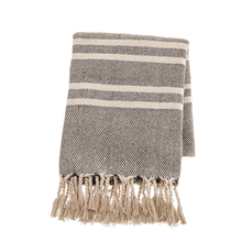 See Details - Black & Natural Stripe Woven Throw