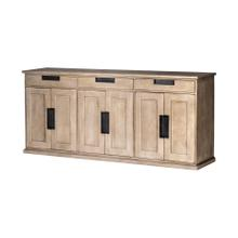 Braxton III 81.5x18.5 Natural Brown Solid Wood 3 Drawer 6 Door Sideboard