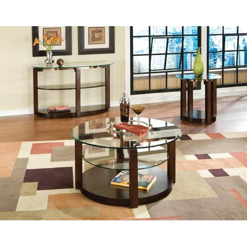Gallery - Coronado End Table with Casters, Brown